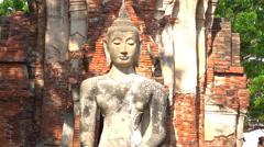 Statue of Buddha Stock Footage