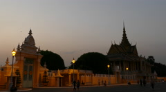 Time lapse from the street in front of the Moonlight Pavilion and Royal Palace Stock Footage