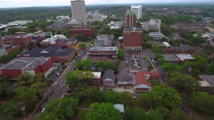 Busy city Tallahassee aerial drone video Stock Footage