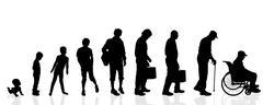 Vector silhouette generation men. Stock Illustration