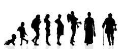 Vector silhouette generation women. - stock illustration