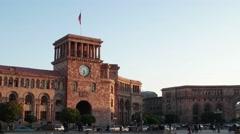 Yerevan, Armenia -  Buildings on a main square of Yerevan, Armenia Stock Footage