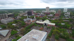 Aerial video of Downtown Tallahassee FL USA - stock footage