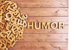 Word humor made with wooden letters - stock photo