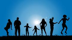 Vector silhouettes of people. Stock Illustration