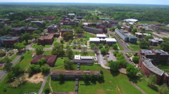 College campus Aerial video Stock Footage