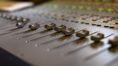 Console For Audio Recording 4k Stock Footage