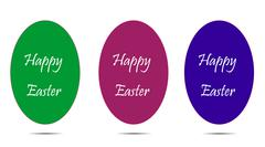 Vector illustration with Easter theme. - stock illustration