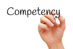 Competency Hand Black Marker Stock Photos