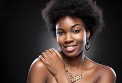 Stock Photo of Young and beautiful black woman