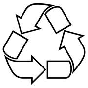 Recycle Contour Vector Icon - stock illustration