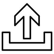 Upload Contour Vector Icon - stock illustration