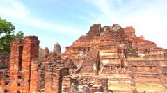Tourists  Wat Mahathat, Ayutthaya Stock Footage