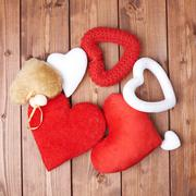 Pile of different hearts Stock Photos
