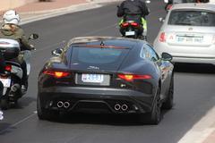 Jaguar F-Type Coupe R in Monte-Carlo, Monaco Stock Photos