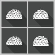 Stock Illustration of geodesic dome Vector flat