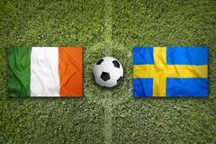 Ireland vs. Sweden, Group E - stock photo