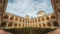 Monastery Of San Miguel De Los Reyes cloister time lapse Stock Footage