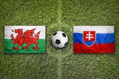 Wales vs. Slovakia, Group B - stock photo