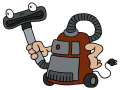 Funny vacuum cleaner Stock Illustration