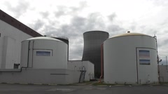 Storage Tanks and Tower Time Lapse Stock Footage