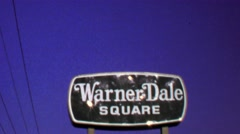 1974: Warner Dale Square Reuben's Plankhouse Beef Spirits signs. Stock Footage