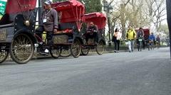 Rickshaws in Beijing - stock footage