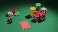 Successful poker player catches royal flush, using strategy to win more chips Stock Footage