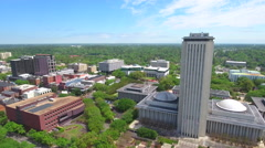 Stock aerial video Downtown Tallahassee Florida - stock footage