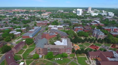 Florida agricultural and mechanical university aerial video FAMU - stock footage