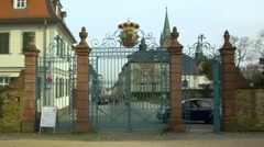 Gate of the castle park in Bad Homburg, Germany Stock Footage