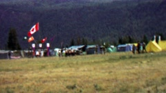 1967: Canada campsite hq 12th World Scout Jamboree. Stock Footage
