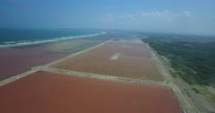 The Colorful Salt Fields of Galerazamba Stock Footage