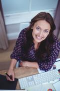 Portrait of beautiful woman smiling Stock Photos