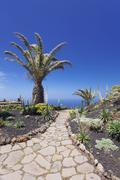 Mirador de la Pena by architect Cesar Manrique El Hierro Canary Islands Spain - stock photo