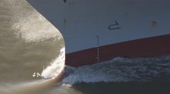 Ship: shot of ship bow wave. CU Stock Footage