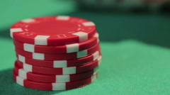 Lucky beginner catches good hand in poker game, successful investment in startup - stock footage