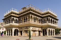 Mubarak Mahal City Palace Pink City Jaipur Rajasthan India Asia - stock photo