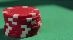 Poker player holding royal flush, good combination of cards, chance to win Stock Footage