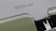 Typing Business plan video intro Stock Footage