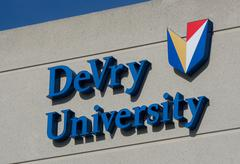Stock Photo of DeVry University Logo and Emblem