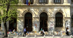 The University Of Bucharest - stock footage
