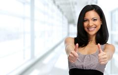Happy Asian business woman. Stock Photos