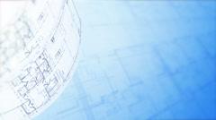 Floor Plan. Architectural Plans Background, Architecture Blueprints. Loop. - stock footage