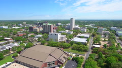 Drone Tallahassee Downtown stock video Stock Footage