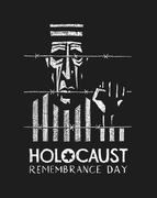 Holocaust Remembrance Day - stock illustration