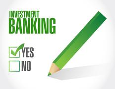 Stock Illustration of investment banking approval sign concept