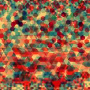 Abstract background with messy polygon shapes - stock illustration