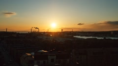 Gothenburg Bay at sunset. Sweden. Time Lapse Stock Footage