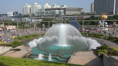 Entrance to Window of the World theme park in Shenzhen, China Stock Footage